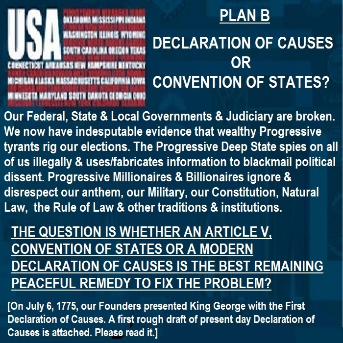Our Government is Broken! Which is the better way to fix it? DOC or Convention of States?