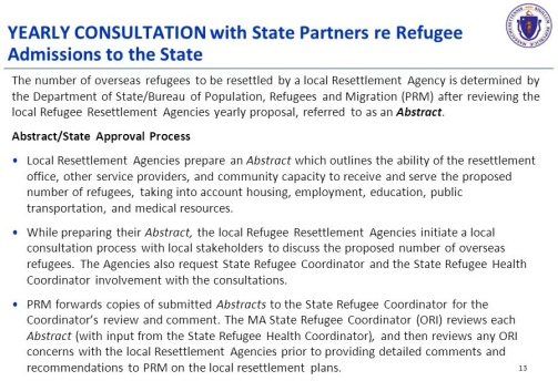 YearlyConsultationWithStatePartnersRERefugeeAdmissionsToTheState11022017