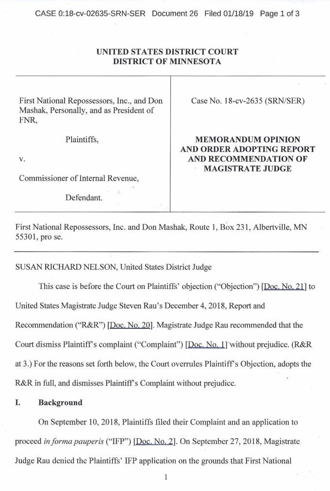 MashakVsIRSCourtMemorandum&OrderDismissingWithoutPrejudice01182019-page-001
