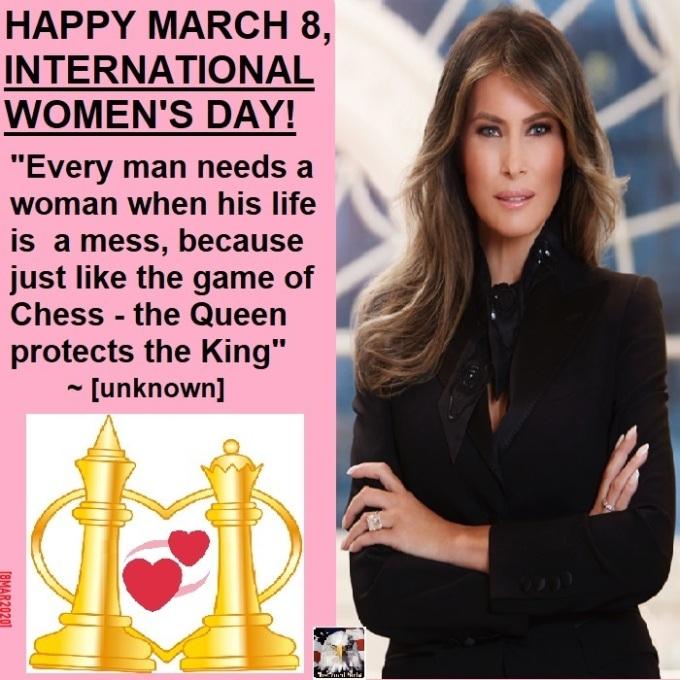 InternationalWomensDayMelaniaTrumpFlotus03082020