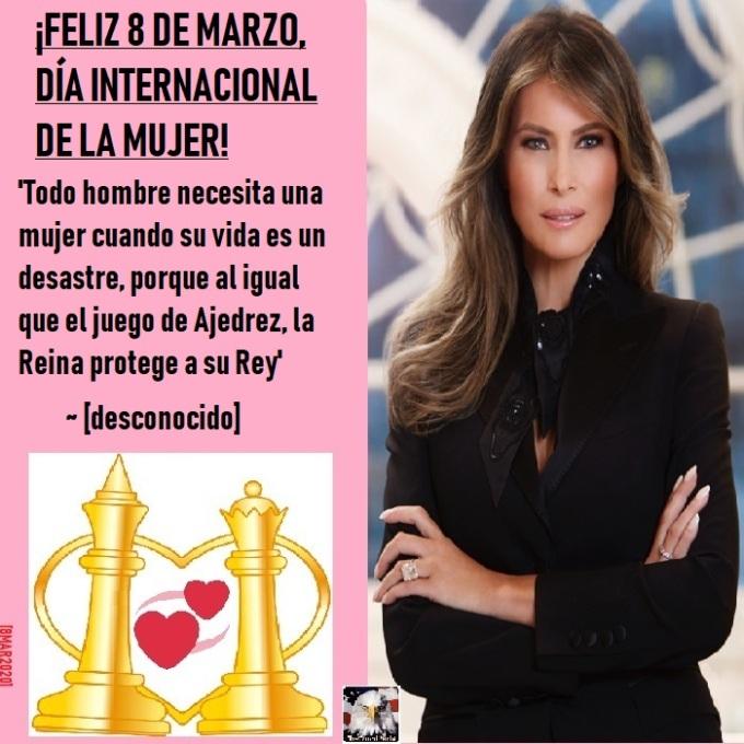 Spanish-InternationalWomensDayMelaniaTrumpFlotus03082020
